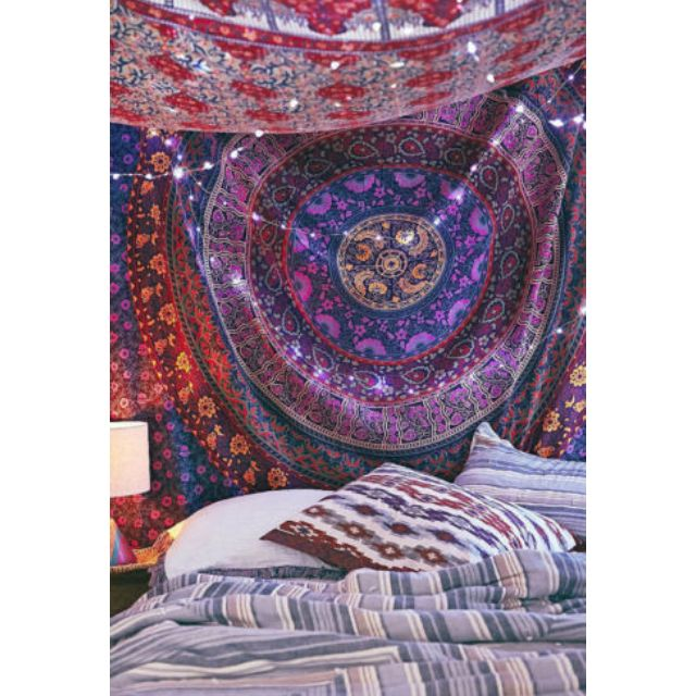 (PO) HIPPIE TAPESTRIES BOHEMIAN MANDALA TAPESTRY WALL HANGING INDIAN THROW BEDSPREAD