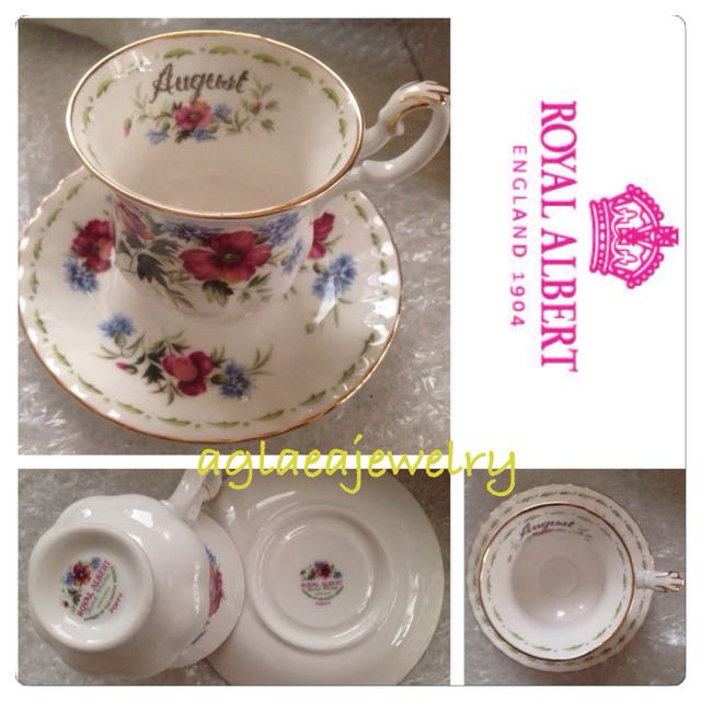 Royal Albert Flowers Of The Month Duo - August - Poppy