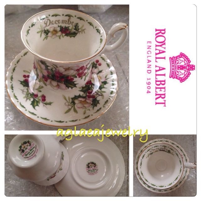 Royal Albert Flowers Of The Month Duo - December - Christmas Rose