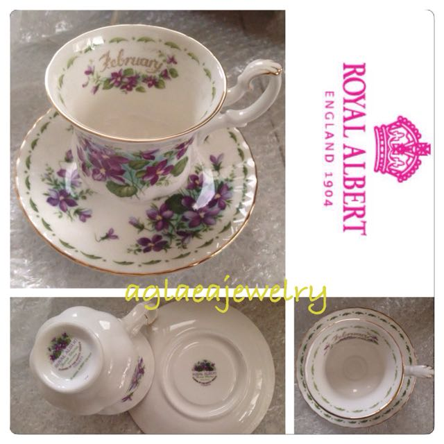 Royal Albert Flowers Of The Month Duo - February - Violets