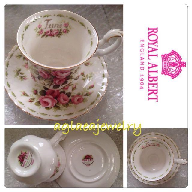 Royal Albert Flowers Of The Month Duo - June - Roses