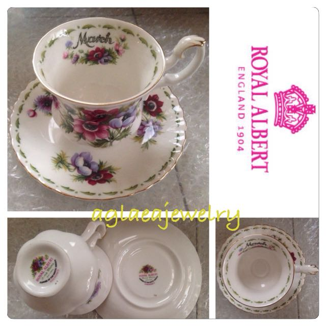 Royal Albert Flowers Of The Month Duo - March - Anemones