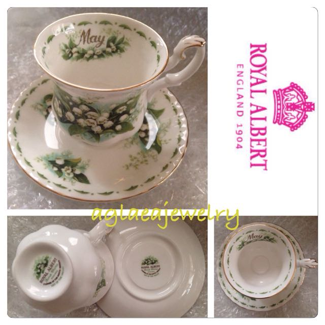 Royal Albert Flowers Of The Month Duo - May - Lily of the Valley