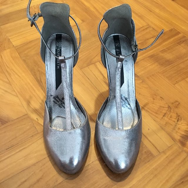 Silver T-bar Shoes Size 39