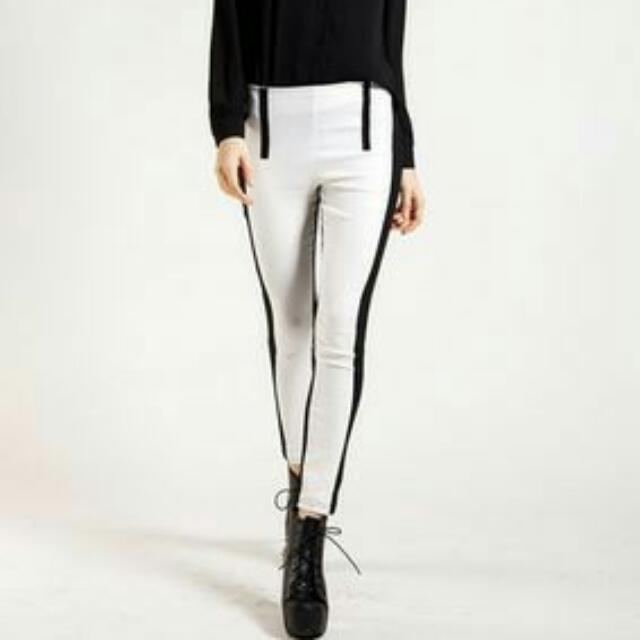Stretchy Black And White Jeggins