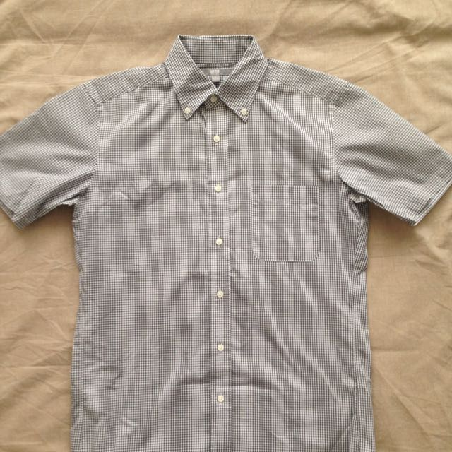 Uniqlo Short Sleeved Checkered Shirt