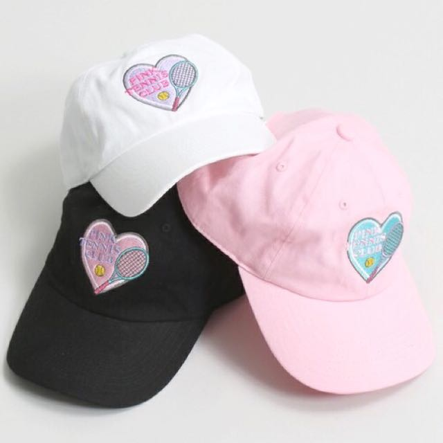 Sold Out!🌟全新 日本 Wego 網球 愛心 刺繡 帽