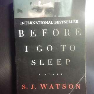 Before I Go To Sleep (By S. J. Watson)