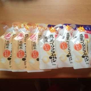 全新日本帶回 SANA豆乳化妝水/乳液 補充包