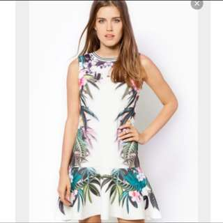Zalora Love Floral Digital Printed Skater Dress