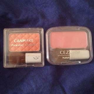 【保留】Canmake元氣蜜桃橘/Cezanne 甜美玫瑰粉腮紅