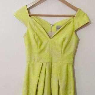 ASOS Formal Yellow Lace Dress