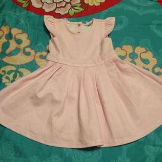 8成新粉色小洋裝