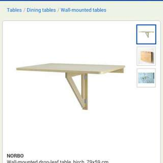 wall mounted foldable table