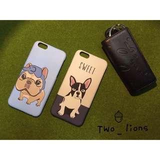 兩色法鬥狗iPhone手機殼