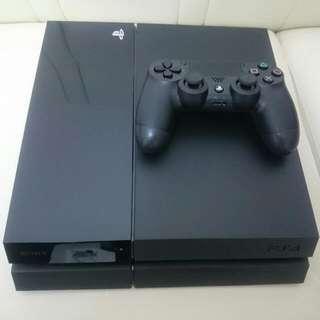 [二手極新] Sony PS4 主機 500GB (黑)+海賊無雙3遊戲片 one piece play station