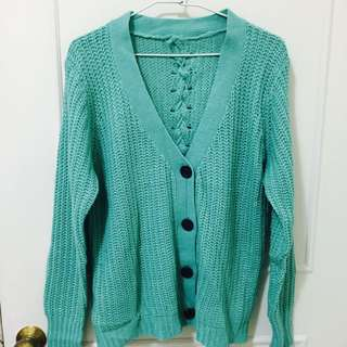 Tiffany綠針織外套