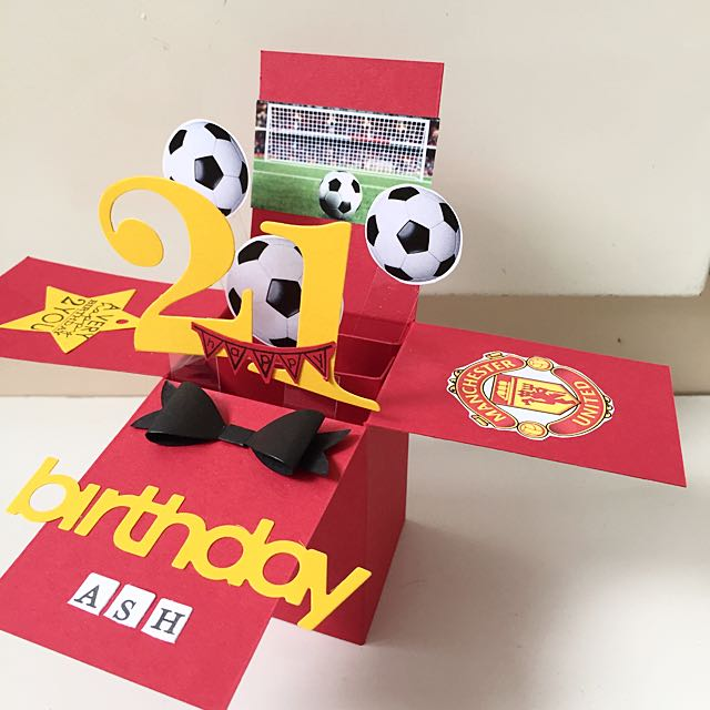 21st Birthday Soccer Handmade Pop Up Card Design Craft On Carousell