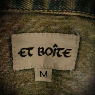 😈ET BOITE牛仔外套M碼