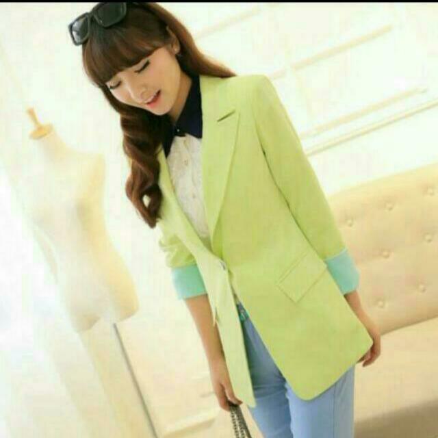 全新😋果綠色西裝外套(女)
