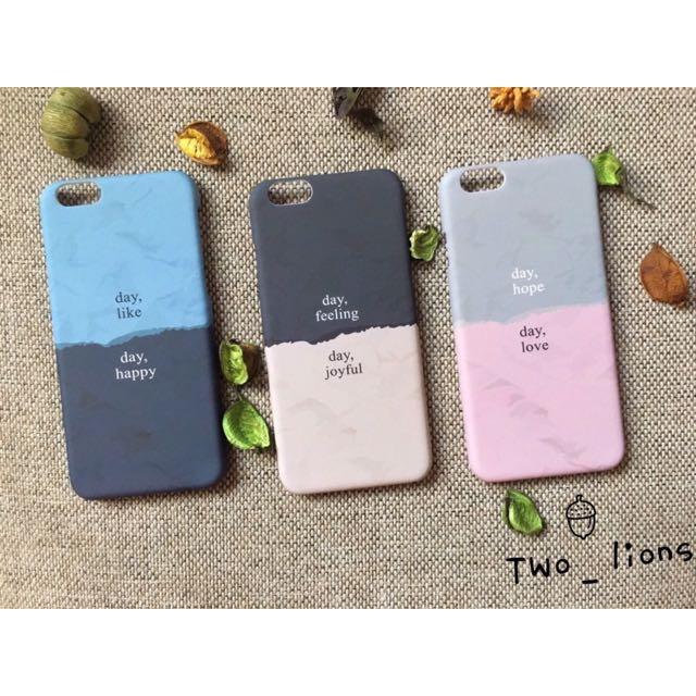 韓國拼色iPhone手機殼