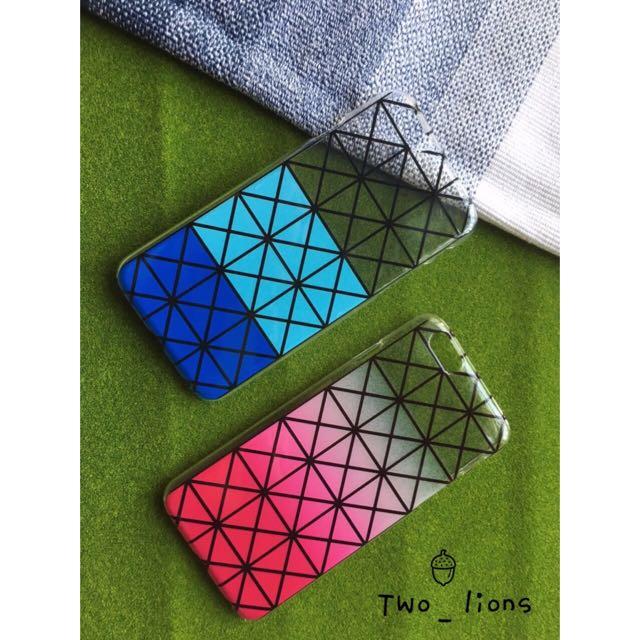 漸層變色格子iPhone手機殼