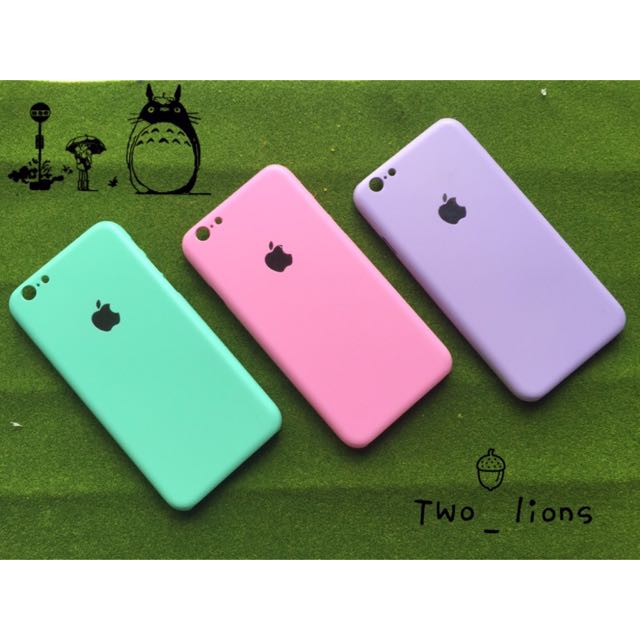 糖果三種純色iPhone手機殼