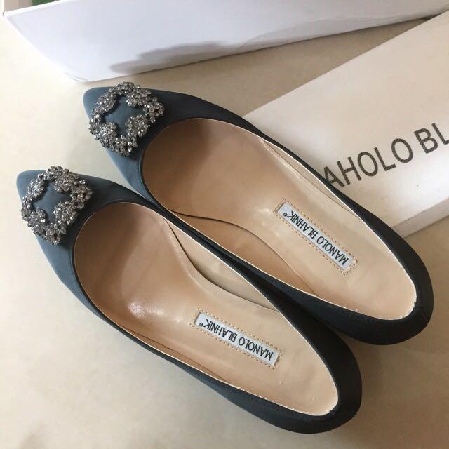 黑鑽平底鞋 39(24.5)