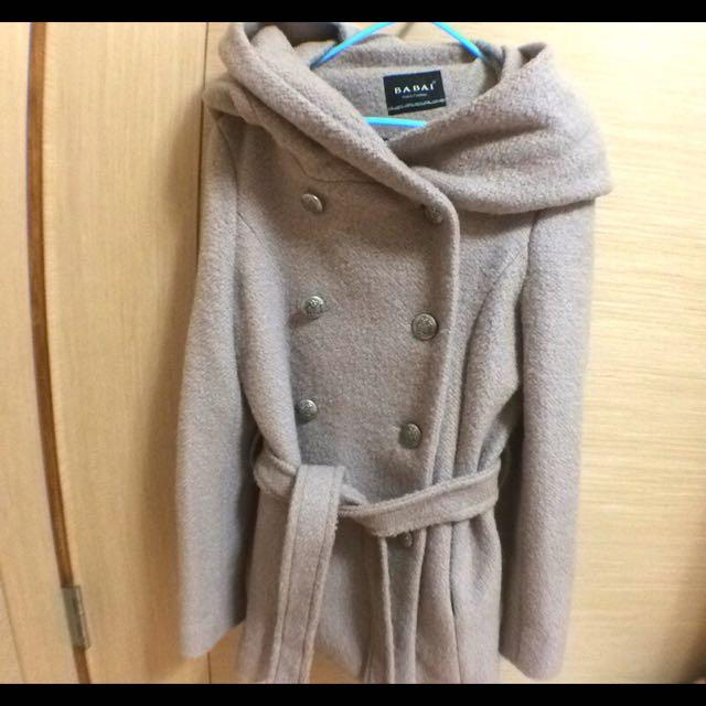 駝色 排釦外套 厚外套 含運