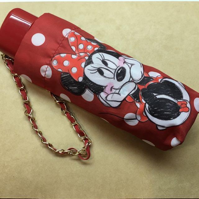 (待付款)❤️超可愛 迪士尼Disney 米妮折疊傘Minnie [小朋友安全雨傘]