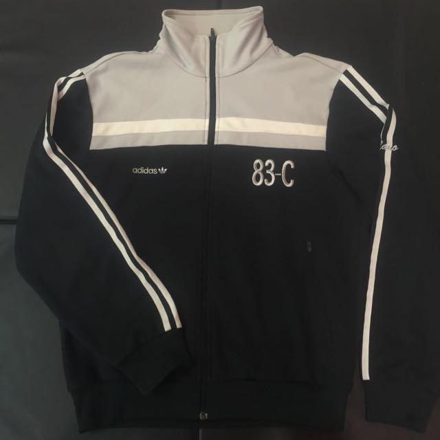 限量復刻 Adidas Originals 83-C 黑灰外套 M