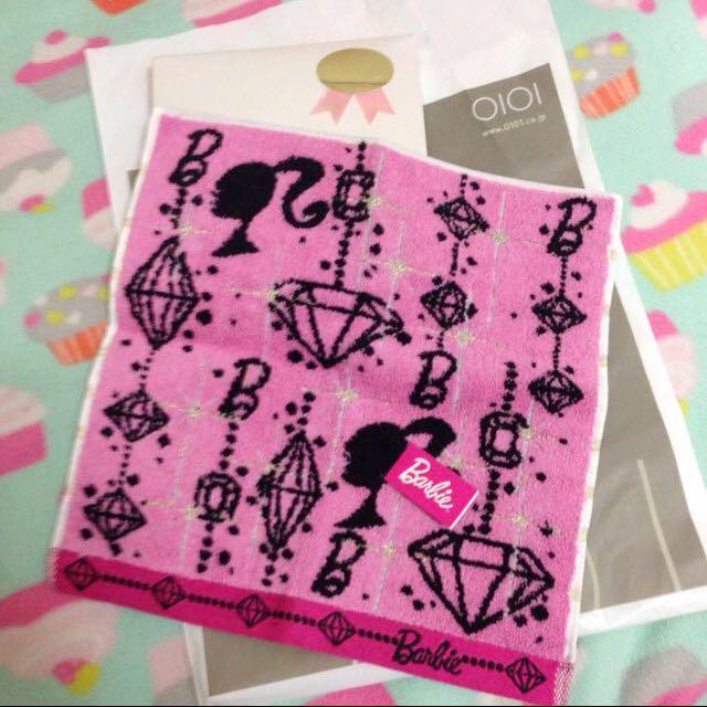 🇯🇵日本帶回 Barbie 專櫃正品 小方巾 毛巾 面巾