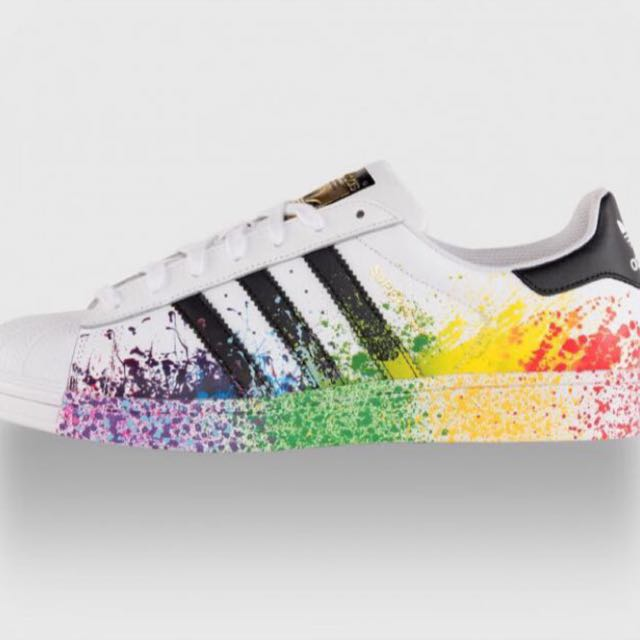 adidas superstar spray paint