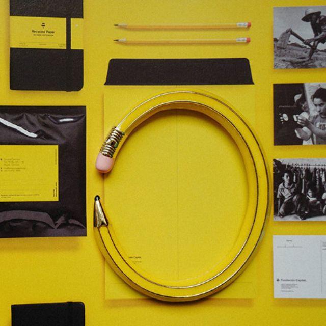 ◆Hasna◆可愛趣味黃色鉛筆造型手環