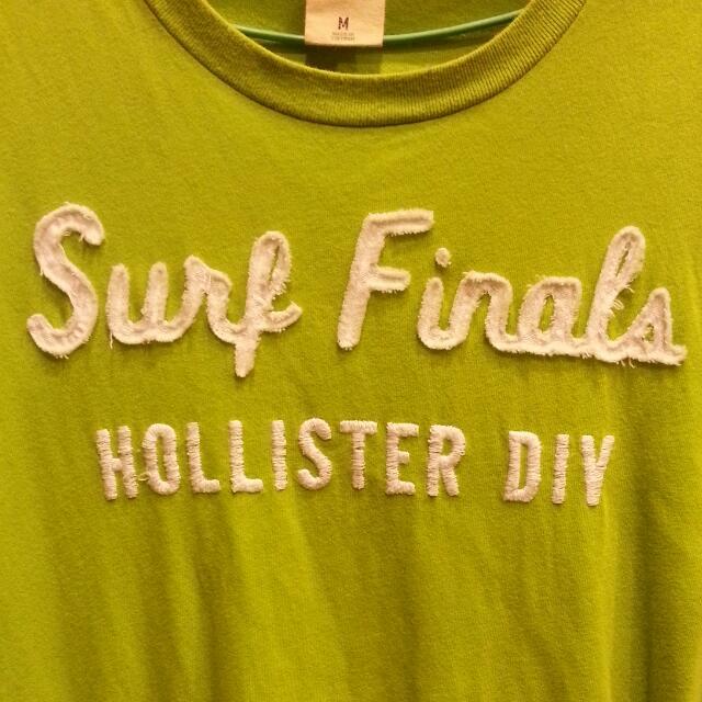 HOLLISTER 草綠色 字母T恤