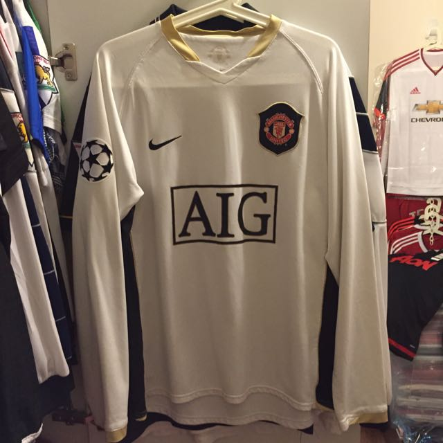 super popular 0867b c0622 Manchester United Away White Jersey 2006 2008 RONALDO 7 ...