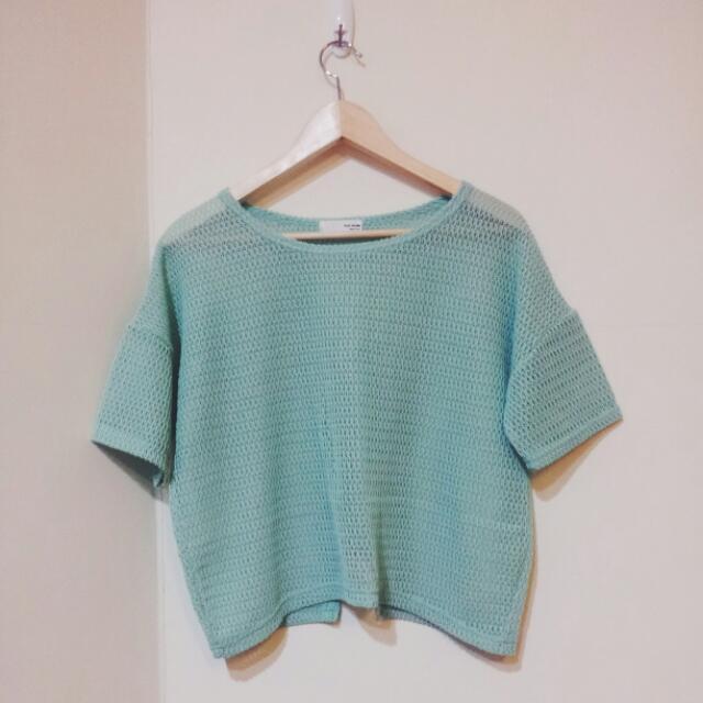 (降)(全新)queen shop 淺綠 罩衫