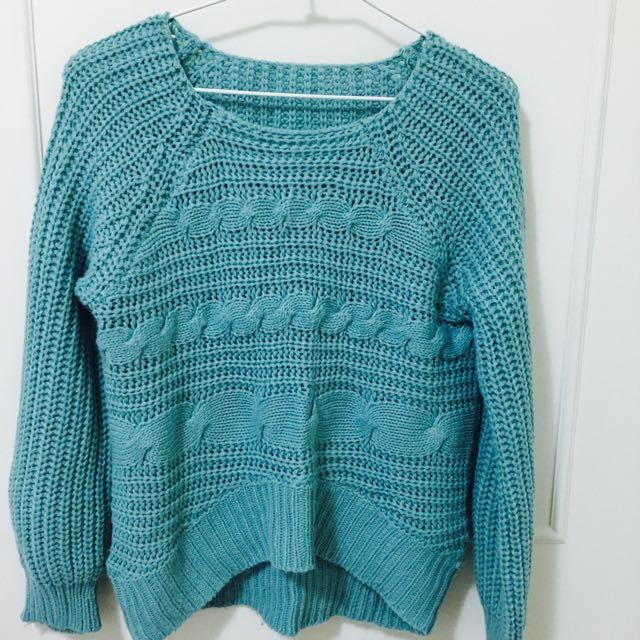 Tiffany綠針織毛衣