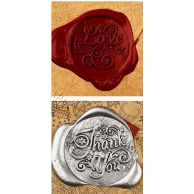 Vintage Classic Sealing Wax Stamp Set Christmas Card Wedding Card Valentines Gift