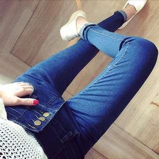 ((現貨))秋季新款✨韓版高腰修身顯瘦鉛筆牛仔褲