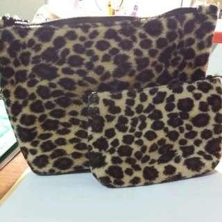 豹紋母子收納包