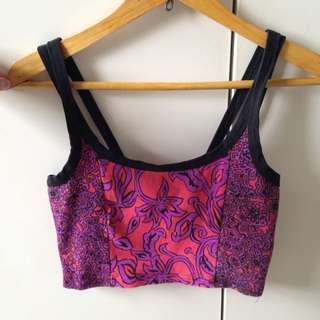 Paint It Red Crop Top Size Small