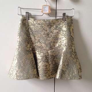Bec&Bridge Drop Waist Gold Skirt Size Small