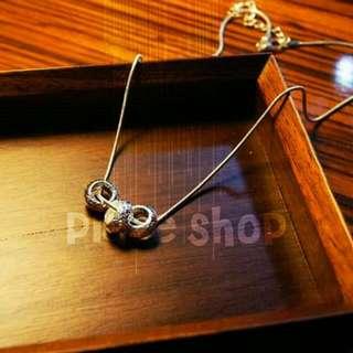〖全新〗銀白色三環氣質項鍊