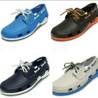 (PO) New Crocs bestseller Beach Boat Men Shoes Motorcycle Delivery Foodpanda Deliveroo (6 designs)