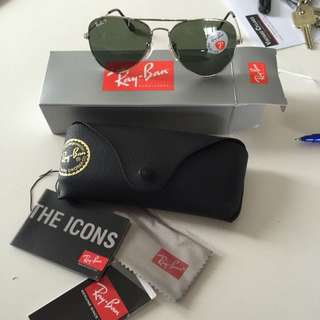 Ray Ban Rb3025 Polarized Aviators With Case Resin Replica