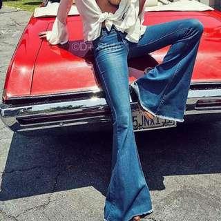 [PO WP02] Leg Lengthening Denim Flare Jeans