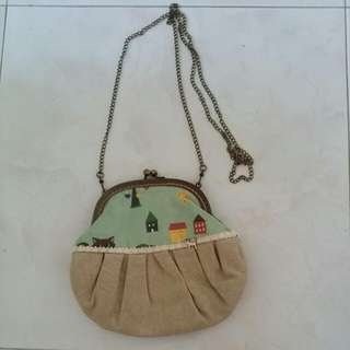 Handmade Sling Pouch From Seoul!