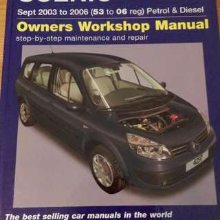Haynes Manual For Renault Scenic / Grand Scenic
