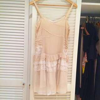 Marnie Skillings Size 10 Silk/lace Dress RRP $300